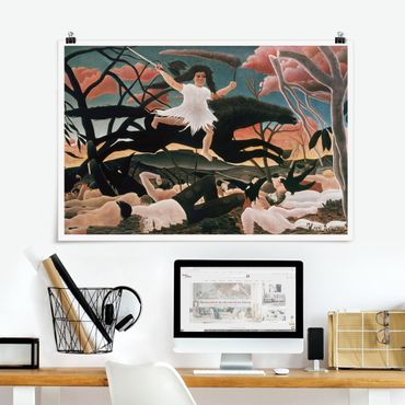 Poster - Henri Rousseau - Der Krieg des Unfrieden - Querformat 2:3
