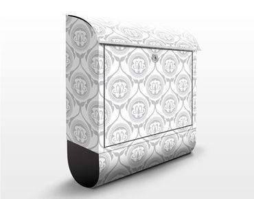 Briefkasten mit Zeitungsfach - Helles Marokko - Wandbriefkasten Grau