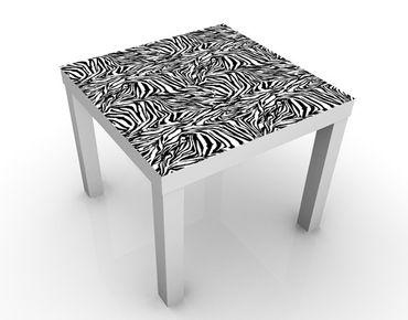 Beistelltisch - Zebra Design Schwarz Weiß