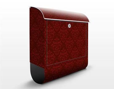 Briefkasten mit Zeitungsfach - Roter Französischer Barock - Wandbriefkasten