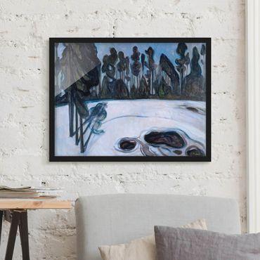 Bild mit Rahmen - Edvard Munch - Sternennacht - Querformat 3:4