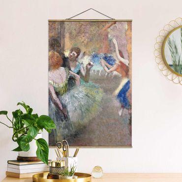 Stoffbild mit Posterleisten - Edgar Degas - Ballettszene - Hochformat 2:3