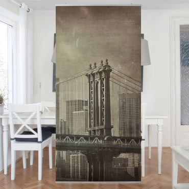 Raumteiler - Vintage New York City 250x120cm