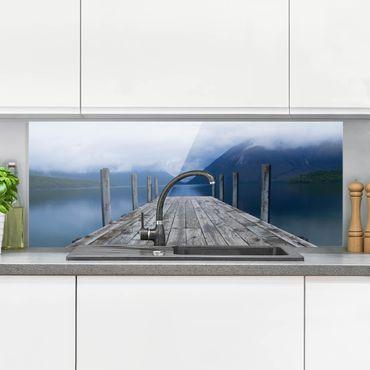 Spritzschutz Glas - Nelson Lakes National Park Neuseeland - Panorama - 5:2