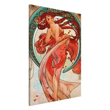 Magnettafel - Alfons Mucha - Vier Künste - Der Tanz - Memoboard Hochformat 3:2