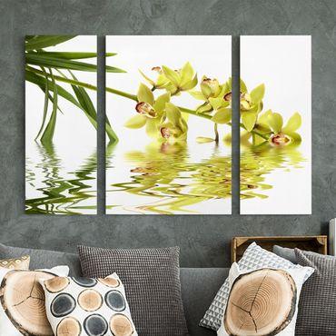 Leinwandbild 3-teilig - Elegant Orchid Waters - Triptychon