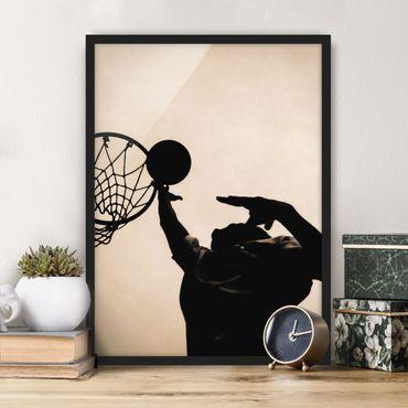 Bild mit Rahmen - Basketball - Hochformat 3:4