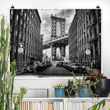 Poster - Manhattan Bridge in America - Querformat 3:4