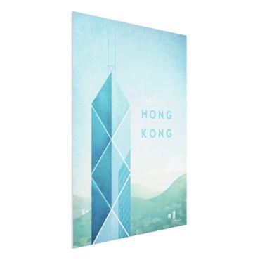 Forex Fine Art Print - Reiseposter - Hong Kong - Hochformat 4:3