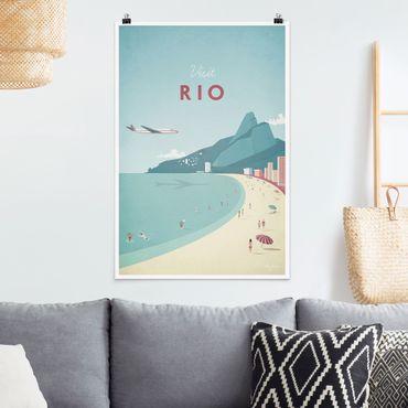 Poster - Reiseposter - Rio de Janeiro - Hochformat 3:2
