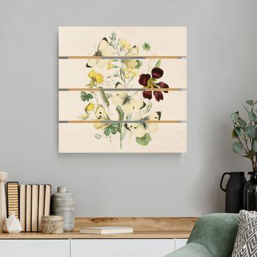 Holzbild - Britische Schmetterlinge II - Quadrat 1:1