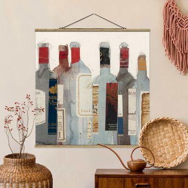 Stoffbild mit Posterleisten - Wein & Spirituosen I - Quadrat 1:1