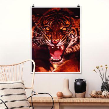 Poster - Wilder Tiger - Hochformat 3:4