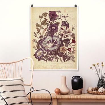 Poster - Vintage Memory Blumenstrauss - Hochformat 3:4