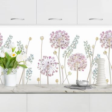 Küchenrückwand - Allium Illustration II