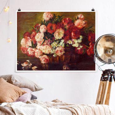 Poster - Auguste Renoir - Stillleben mit Pfingstrosen - Querformat 3:4