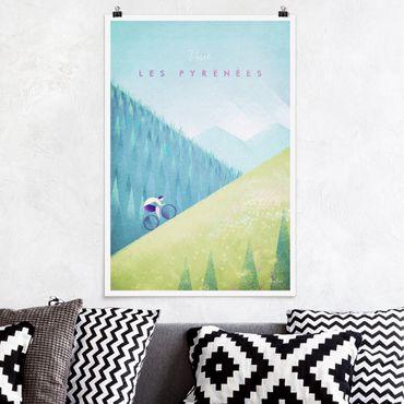 Poster - Reiseposter - Die Pyrenäen - Hochformat 3:2