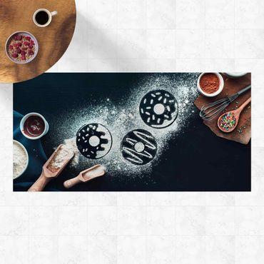 Vinyl-Teppich - Backrezept Donuts - Querformat 2:1
