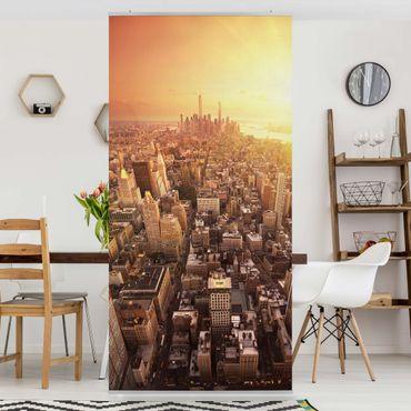 Raumteiler - Goldene Stadt 250x120cm
