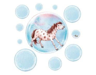 Zauberponygeschichten - Wandtattoo Pferd Das Seifenblasenpony Sticker Set - Arena Verlag