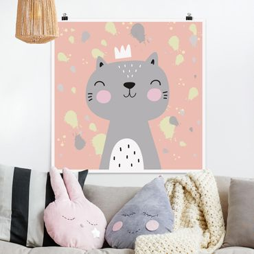 Poster - Freche Katze - Quadrat 1:1