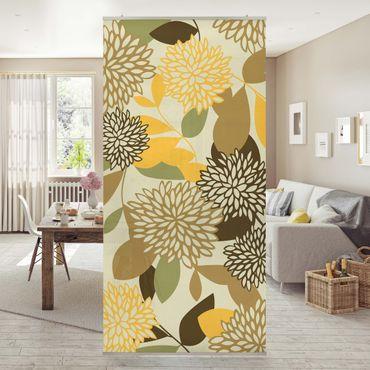 Raumteiler - Vintage Flowers 250x120cm