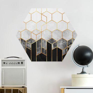 Hexagon Bild Forex - Goldene Sechsecke Schwarz Weiß