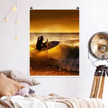 Poster - Sun, Fun and Surf - Hochformat 3:4