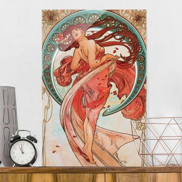 Glasbild - Alfons Mucha - Vier Künste - Der Tanz - Hochformat 3:2