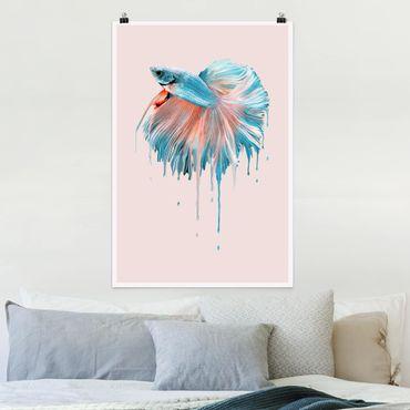 Poster - Jonas Loose - Schmelzender Fisch - Hochformat 3:2