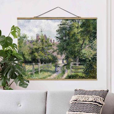 Stoffbild mit Posterleisten - Camille Pissarro - Saint-Martin - Querformat 4:3