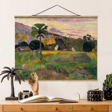 Stoffbild mit Posterleisten - Paul Gauguin - Komm her - Querformat 4:3