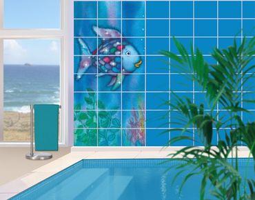 Fliesenbild - Der Regenbogenfisch - Allein im weiten Meer