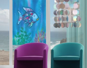 Fensterfolie - Sichtschutz Fenster Der Regenbogenfisch - Allein im weiten Meer - Fensterbilder