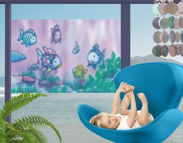 Fensterfolie - Sichtschutz Fenster Regenbogenfisch - Unterwasserparadies - Fensterbilder