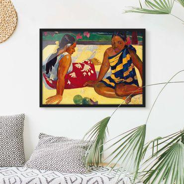 Bild mit Rahmen - Paul Gauguin - Frauen von Tahiti - Querformat 3:4