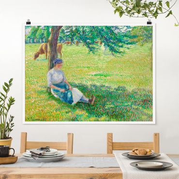 Poster - Camille Pissarro - Kuhhirtin - Querformat 3:4