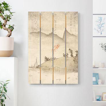 Holzbild - No.MW8 Japanische Stille - Hochformat 3:2