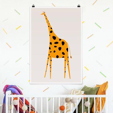 Poster - Gelbe Giraffe - Hochformat 3:2