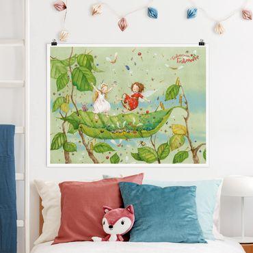 Poster - Erdbeerinchen Erdbeerfee - Trampolin - Querformat 3:4