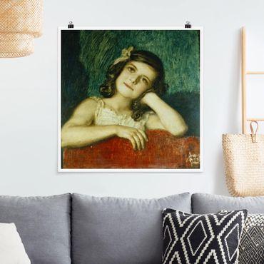 Poster - Franz von Stuck - Mary - Quadrat 1:1