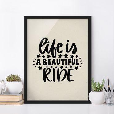 Bild mit Rahmen - A beautiful ride - Hochformat 3:4