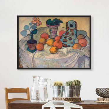 Bild mit Rahmen - Paula Modersohn-Becker - Stillleben mit Orangen - Querformat 3:4