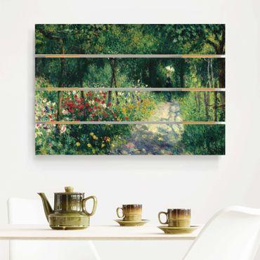 Holzbild - Auguste Renoir - Frauen im Garten - Querformat 2:3