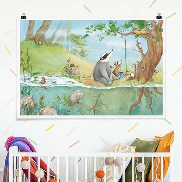 Poster - Wassili Waschbär - Ein Fahrstuhl für Elsa - Querformat 2:3