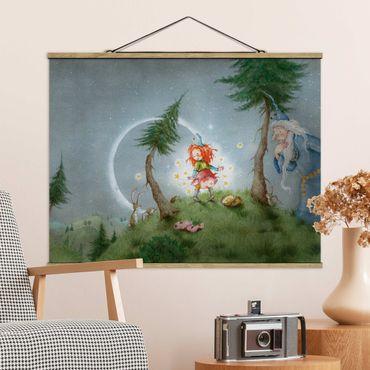 Stoffbild mit Posterleisten - Frida lässt die Sterne frei - Querformat 4:3