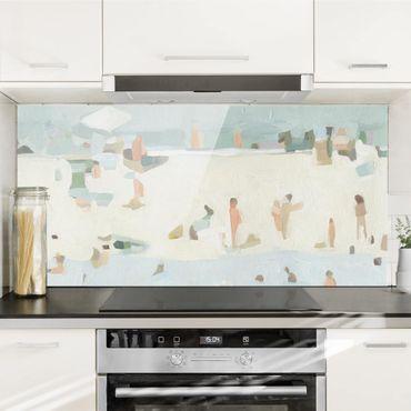Spritzschutz Glas - Sandbank im Meer I - Querformat - 2:1