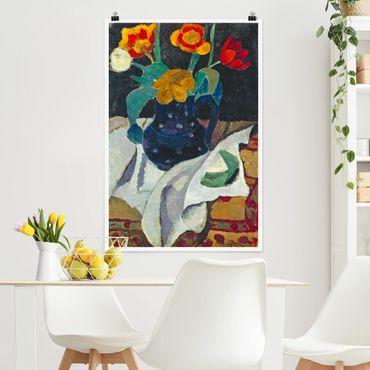 Poster - Paula Modersohn-Becker - Stillleben mit Tulpen - Hochformat 3:2