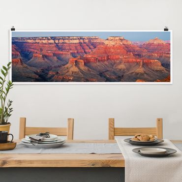 Poster - Grand Canyon nach dem Sonnenuntergang - Panorama Querformat