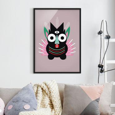 Bild mit Rahmen - Collage Ethno Monster - Krallen - Hochformat 4:3